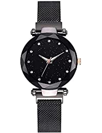 Mr. Brand Mr. Brand Casual Designer Black Dial Magnet Watch - for Girls & Women (Black)
