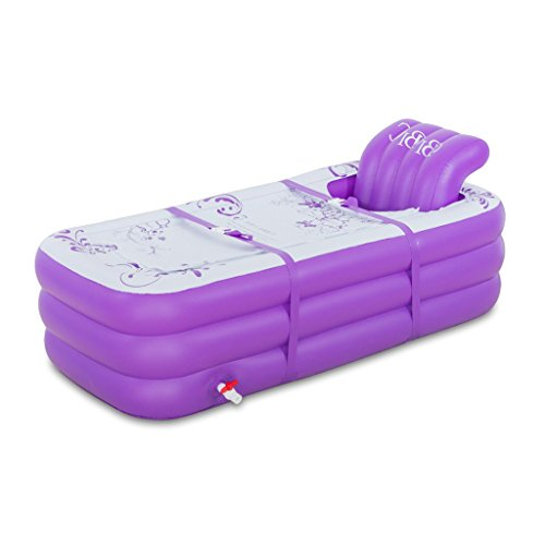 Zheng Hui Shop Große Doppel-aufblasbare Badewanne zu Hause warme Kunststoff-Falt Badewanne Liegesofa (Color : Purple, Size : 165cm/65.0inch)