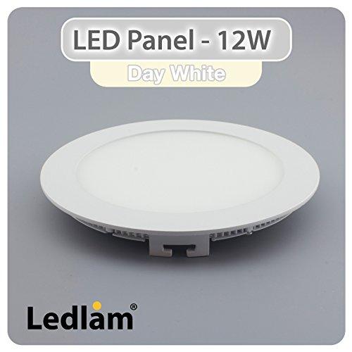 LED Einbaustrahler Panel weiss rund Ø 17cm 12 Watt neutralweiß