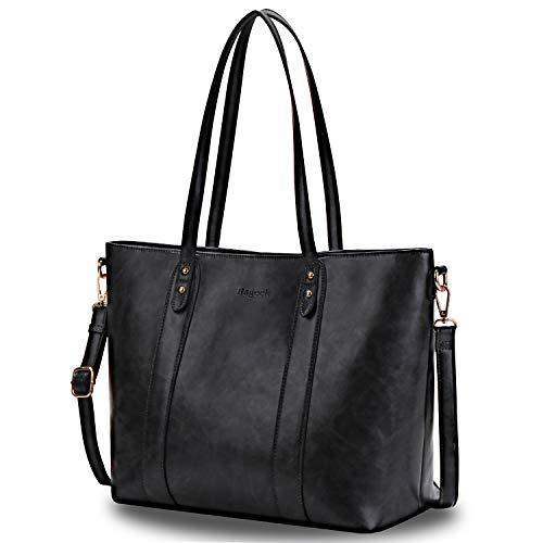 Bageek Handtasche Damen Shopper Handtasche Schwarz Designer Taschen PU Leder Handtasche Damentaschen Groß -
