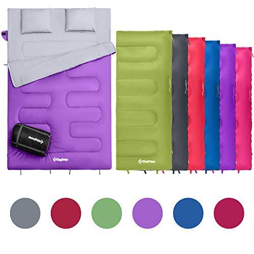KingCamp Ultraligera Oxígeno Saco de Dormir 180 × 75 cm Verano Saco Rectangular para Acampar, Senderismo y Trekking Ligero, Viaje