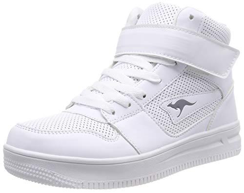 KangaROOS Unisex-Kinder Future-Space Hi Hohe Sneaker, Weiß (White 0000), 38 EU