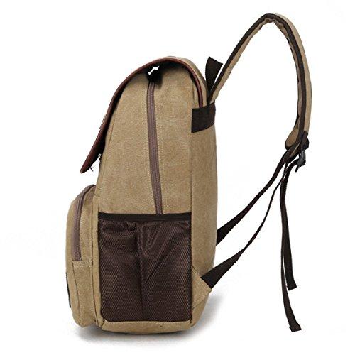 Segeltuch-Schulter-Beutel-beiläufiger Spielraum-Rucksack,Black Black