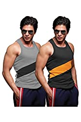 ONN NS535 Mens Assorted Cotton Sports Vest Pack of 2 (Large)