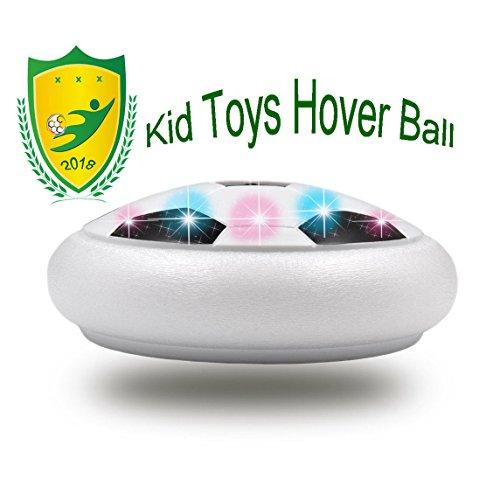 JRD&BS WINL 3-12 Jahre Altes Junge Spielzeug, Kinder Spielzeug Bunte LED-Leuchten Hover Fußball für 4-8 Jahre Alt Spiele für Drinnen und Draußen(Weiß 01)