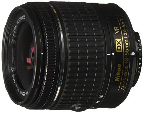 Nikon DX Nikkor 18 55 mm f/3.5 5.6G VR AF P Lens for Camera  Black