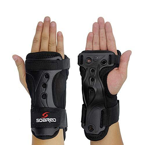 ZRK Ski-Handschuhe verlängerte Handgelenk-Handgelenk-Kuschleinen-Rollschuhschalen verstellbare Hartkoffer Starke Unterstützung kann einen Puffereffekt von Guten Outdoor-Produkten Spielen,XL