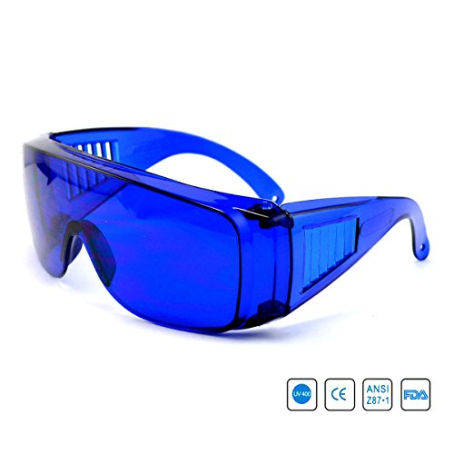 Dreamworldeu Golf Ball Suchbrille mit Schutzhülle Blue Golf Ball Locator Retrieve your Ball Ideal Gift