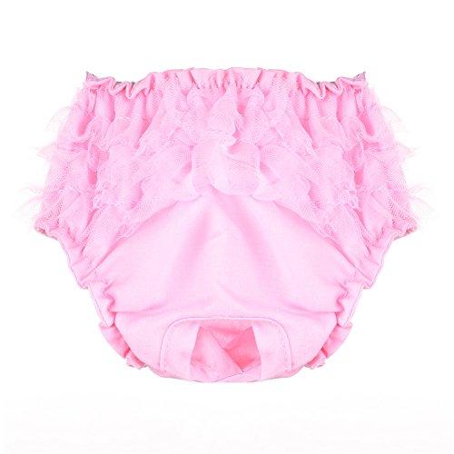 Couches pour Chein Pantalon Culotte Sanitaire Physiologique Pas Très Cher pour Chiot Chienne Animal Femelle pour Awhao Rose S