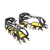 Heoolstranger Rampe da Ghiaccio Ramponi Trazione Impugnature da Neve Ramponi Antiscivolo per Alpinismo Arrampicata su Ghiaccio