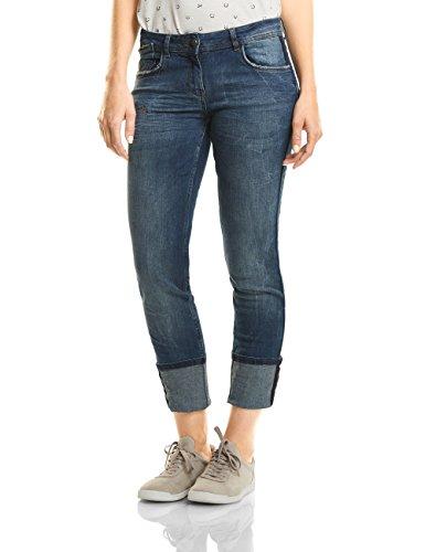 Cecil Damen Jeans 370942 Charlize, Blau (Mid Blue Used Wash 10320), W34/L32 (Jeans Tight Leg)