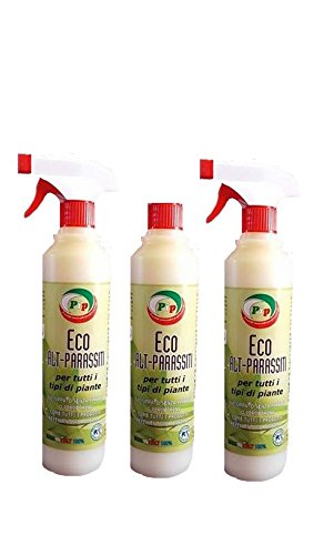 pip eco alt-parassiti x piante da interno nr.3 flaconi ml.500 vapo, antiparassitario ecologico a base di olio di neem e sostanze naturali senza piretro o permetrina