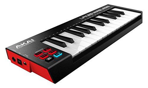 AKAI Professional LPK25 Wireless  25 Tasten anschlagdynamisches USB & Bluetooth Minikeyboard für Produktionen und Auftritte und passend für iOS, Mac und PC Anwendungen