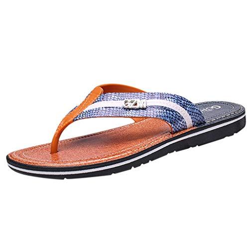 xmansky Herren Damen Laufschuhe Sneaker Straßenlaufschuhe Sportschuhe Turnschuhe Outdoor Leichtgewichts,Männer Arbeiten beiläufige Schuh-Strand-Sandelholz-Sommer-Breathable Flipflops-Schuhe um Climbing Heels