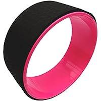BodyRip Yoga Wheel 33cm Stretching Tool, Pink, 33 cm