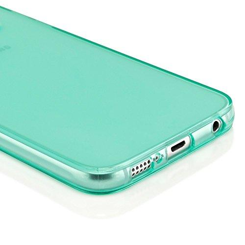 iPhone 6 6S Coque Silicone de NICA, Ultra-Fine Housse Protection Transparente Cover Slim Etui, Mince Telephone Portable Clear Gel Case Bumper Souple pour Apple iPhone 6S 6 Smartphone - Turquoise Turquoise Vert