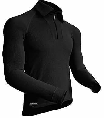 berkner langarmshirt mit kragen zip herren. Black Bedroom Furniture Sets. Home Design Ideas