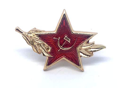 Patch Nation Sowjetischer CCCP Roter Stern Hammer & Sichel Metall Button Badge Pin Pins Anstecker Cosplay Brosche -