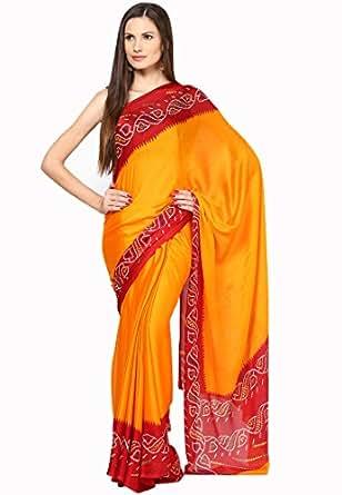 Soundarya Crepe Saree (Rs47_Orange)
