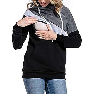 BESBOMIG-Ropa-Lactancia-Mujeres-Camiseta-de-Lactancia-Encapuchado-Premam-Camisa-Doble-Capa-Maternidad-Ropa-de-Enfermera-de-Mangas-Largas