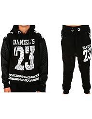Daniel 's - Jogging enfant Sarouel et sweat Daniel's 23 noir Taille de 10 à 14 ans - 10 ans,12 ans,14 ans