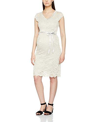 MAMALICIOUS Damen Kleid MLNEWMIVANA Cap Jersey Dress Weiß Snow White, 38 (Herstellergröße: M)