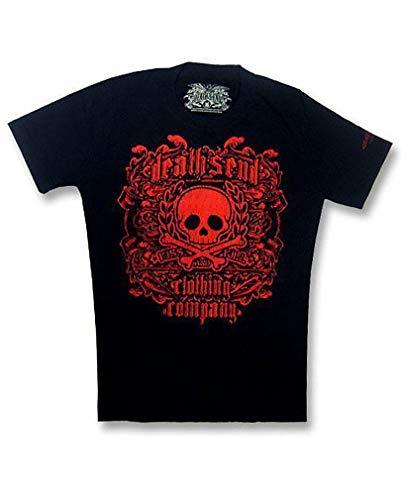 Horror-Shop Red Skull and Bones T Shirt Gr. S (Red Skull Kostüm)