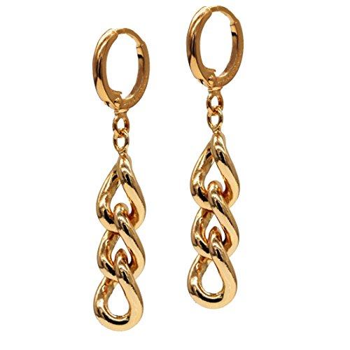 juvel-jewelry-schmuck-ohrringe-fashion-18k-gold-plated-3-kreis-kette-gelb-spezielle-schakel-ohrringe