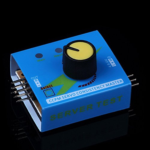 Unitedheart Profrssional Multi Servo Tester 3CH ECS Konsistenz Geschwindigkeit Controler Power Kanäle CCPM Meter Master Checker