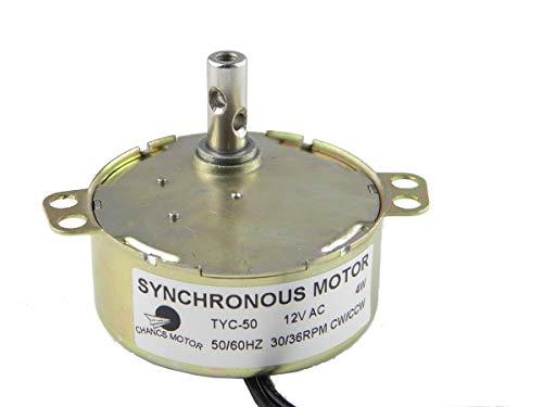 CHANCS Synchronmotor Ausgerichtet TYC-50 12 V AC 30-36 U/min CW/CCW 4W Kleiner Elektromotor zum Schulprojekt