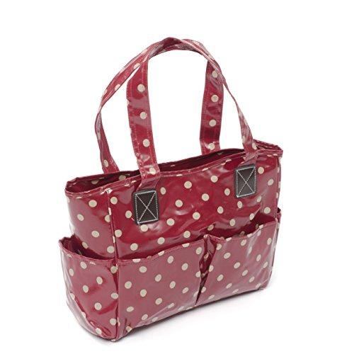 Hobby Gift MRB. 00235x 17x 39cm PVC Baumwolle Polka Craft Tasche, Cherry rot (Dot Handtaschen Stoff Polka)