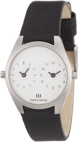 Danish Design 3324370 - Reloj analógico de cuarzo para mujer con correa de piel, color negro