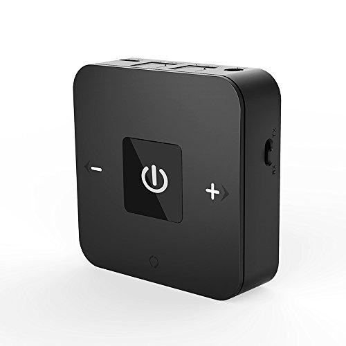 Golvery Bluetooth V4.1 Sender und Empfänger, Wireless Optical TOSLINK und 3,5 mm Aux Adapter, aptX Low Latency für TV Car Stereo Home Audio mit Song/Lautstärkeregler, unterstützt 25 Stunden Spielen