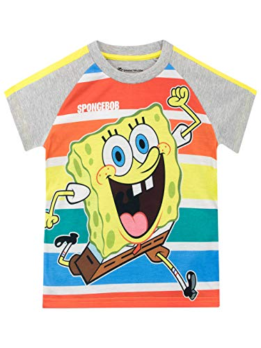 SpongeBob Schwammkopf Jungen Sponge Bob Squarepants Schlafanzug T-Shirt Mehrfarbig 128 - Spongebob Schwammkopf T-shirt T-shirt
