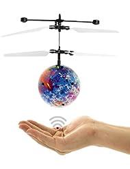 Toamen Boule de vol Infrarouge Induction Coloré LED Hélicoptère Jouet pour enfants