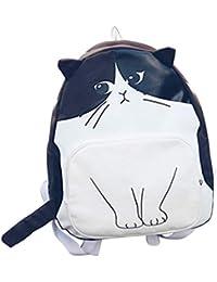 REFURBISHHOUSE Preciosa Mochila de Gatos Mochilas de Lona Casuales Bolsa para la Escuela Mochila Linda de