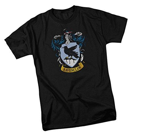 Ravenclaw Wappen - Harry Potter T-Shirt für Erwachsene - Schwarz - Mittel -