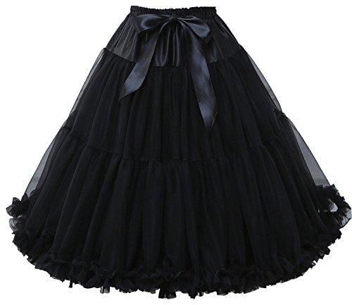 FOLOBE Frauen Tutu Kostüm Ballett Tanz Puffy Rock Erwachsene Luxuriöse Weiche Chiffon Petticoat Tüll Tutu - Tutu Couture Kostüm