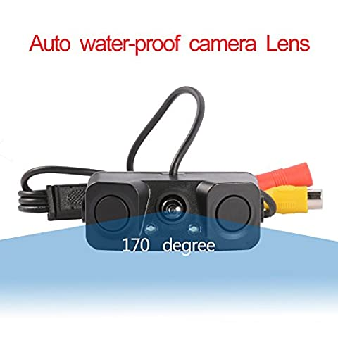 Car Backup Camera, LESHP Parking Camera 170° Wide Angle Night Vision Reverse Reversing Camera Waterproof Wireless IR Camera