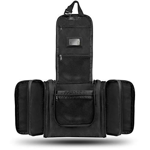 XXL Kulturbeutel Kulturtasche zum Aufhängen für Herren & Damen - 12 Liter große Kosmetiktasche [NEU mit Trolley-Befestigung] Waschtasche Waschbeutel für Mann & Frau