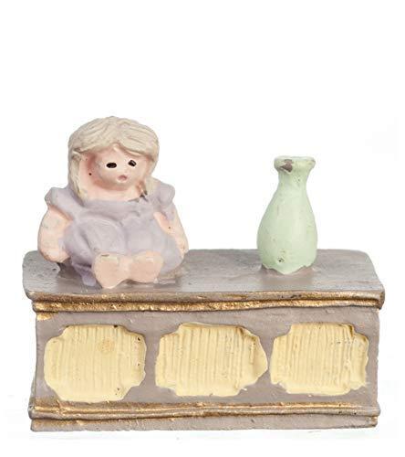 Melody Jane Puppenhaus Spielzeug Truhe Osmanisch 1:48 Maßstab 1/4 Zoll Mini Miniatur-Möbel -