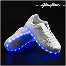 Bitblin Glow Flow Zapatillas Deportivas con LED, Unisex Adulto, Blanco, 38