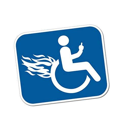 AITU Auto Aufkleber 12,7 cm * 10,4 cm Deaktivieren Sie Furious Rollstuhl PVC Motorrad Auto Aufkleber