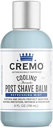 Cremo Unscented Post Shave Balm with Skin Clearing Formula, Helps Prevent Razor Bumps, Blemishes and Ingrown H