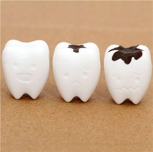 weisse Zähne Radiergummi aus Japan von Iwako