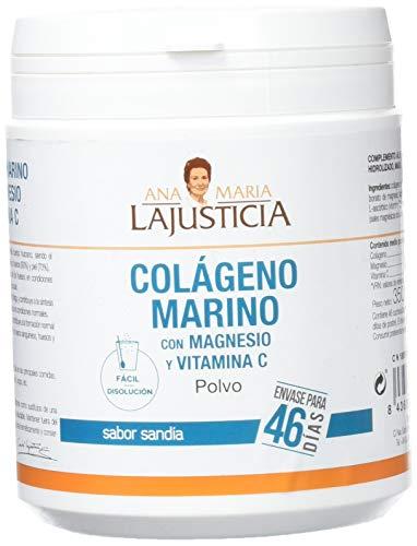 Ana Maria Lajusticia - Colágeno Marino con Magnesio y Vitamina C - (350 gramos) - Sabor sandia