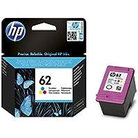 HP 62 C2P06AE Cartouche d'Encre Authentique pour Imprimantes HP Envy 5540/5640/7640 Trois Couleurs