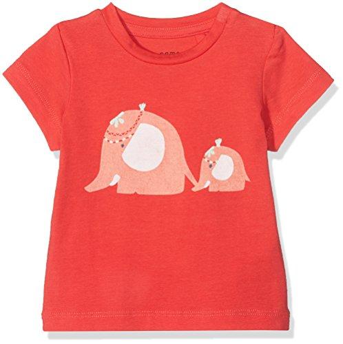 NAME IT Baby-Mädchen T-Shirt Nbfgaffel SS Top, Rot (Hibiscus), 56
