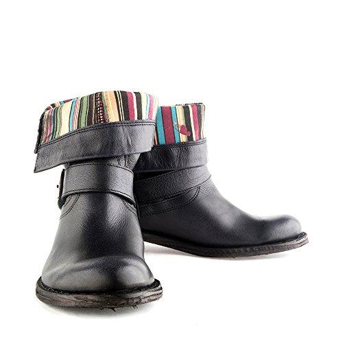 Felmini - Damen Schuhe - Verlieben Gredo 7176 - Cowboy & Biker Stiefel - Echte Leder - Schwarz - 0 EU Size Schwarz