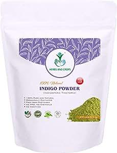Herbs and Crops Natural Indigo Powder, Green, 227g